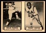1962 Topps CFL  Willie Fleming / Tommy Hinton  Front Thumbnail