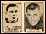 1962 Topps CFL  Roger Hagberg / Gerry James  Front Thumbnail