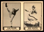 1962 Topps CFL  Cam Fraser / Dick Shatto  Front Thumbnail