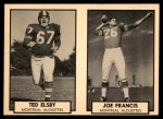 1962 Topps CFL  Ted Elsby / Joe Francis  Front Thumbnail