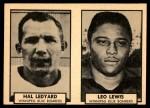 1962 Topps CFL  Hal Ledyard / Leo Lewis  Front Thumbnail
