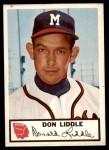 1953 Johnston Cookies #9  Don Liddle  Front Thumbnail