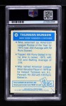 1977 Topps Cloth Stickers #32  Thurman Munson  Back Thumbnail