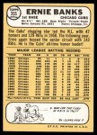 1968 Topps #355  Ernie Banks  Back Thumbnail
