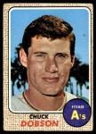 1968 Topps #62  Chuck Dobson  Front Thumbnail