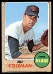 1968 Topps #573  Joe Coleman  Front Thumbnail