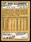 1968 Topps #406  Dick Ellsworth  Back Thumbnail