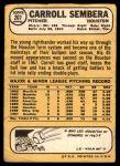 1968 Topps #207  Carroll Sembera  Back Thumbnail