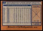 1978 Topps #77  Ed Kirkpatrick  Back Thumbnail