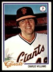 1978 Topps #561  Charlie Williams  Front Thumbnail