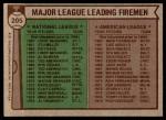 1976 Topps #205   -  Goose Gossage / Al Hrabosky Leading Firemen Back Thumbnail