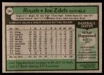 1979 Topps #389  Joe Zdeb  Back Thumbnail