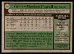 1979 Topps #656  Hosken Powell  Back Thumbnail