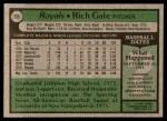 1979 Topps #298  Rich Gale  Back Thumbnail