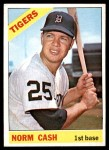 1966 Topps #315  Norm Cash  Front Thumbnail