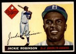 1955 Topps #50  Jackie Robinson  Front Thumbnail