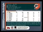2003 Topps #11  James McKnight  Back Thumbnail