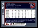 2003 Topps #17  Steve McNair  Back Thumbnail