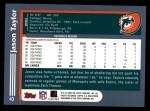 2003 Topps #43  Jason Taylor  Back Thumbnail