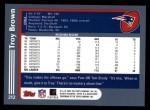 2003 Topps #212  Troy Brown  Back Thumbnail