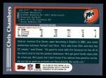 2003 Topps #218  Chris Chambers  Back Thumbnail