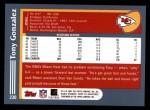 2003 Topps #230  Tony Gonzalez  Back Thumbnail