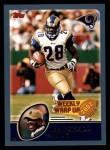 2003 Topps #297   -  Marshall Faulk Weekly Wrap-Up Front Thumbnail