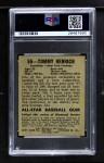 1948 Leaf #55  Tommy Henrich  Back Thumbnail