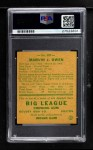 1938 Goudey Heads Up #287 Marvin Owen  Back Thumbnail