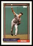 1992 Topps #349  Steve Lyons  Front Thumbnail