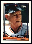 1992 Topps #381  Sparky Anderson  Front Thumbnail