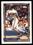 1992 Topps #420  Sandy Alomar Jr.  Front Thumbnail