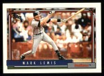 1992 Topps #446  Mark Lewis  Front Thumbnail