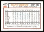 1992 Topps #453  Gary Redus  Back Thumbnail