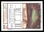 1992 Topps #459  Tom Kelly  Back Thumbnail