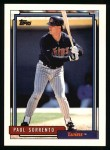 1992 Topps #546  Paul Sorrento  Front Thumbnail