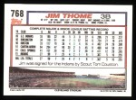 1992 Topps #768  Jim Thome  Back Thumbnail