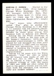 1950 Callahan Hall of Fame  Cap Anson  Back Thumbnail
