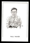 1950 Callahan Hall of Fame B Paul Waner  Front Thumbnail