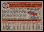 1957 Topps #337  Rene Valdes  Back Thumbnail