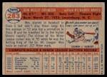 1957 Topps #283  Wes Covington  Back Thumbnail