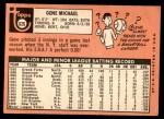 1969 Topps #626  Gene Michael  Back Thumbnail