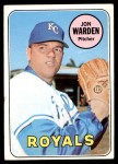 1969 Topps #632  Jon Warden  Front Thumbnail