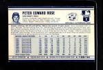 1972 Kellogg's #6  Pete Rose  Back Thumbnail