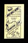 1910 M116 Sporting Life  Tom Downey  Back Thumbnail