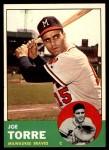 1963 Topps #347  Joe Torre  Front Thumbnail