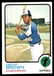 1973 Topps #312  Oscar Brown  Front Thumbnail
