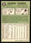 1967 Topps #184  George Thomas  Back Thumbnail