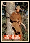 1956 Topps Davy Crockett Orange Back #1   King of the Wild Frontier     Front Thumbnail