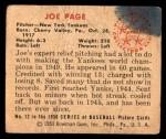 1950 Bowman #12  Joe Page  Back Thumbnail